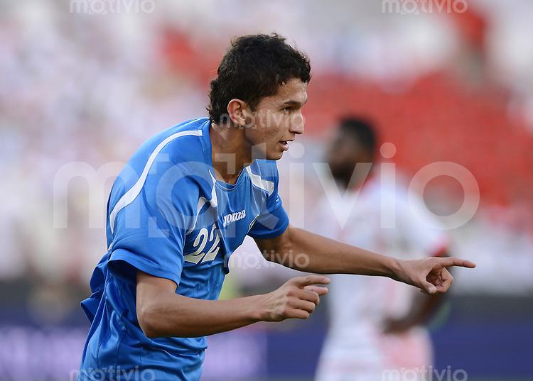 FUSSBALL   INTERNATIONAL    Vereinigte Arabische Emirate - Usbekistan     22.03.2013 JUBEL Shoheuh GADOEV (Usbekistan)