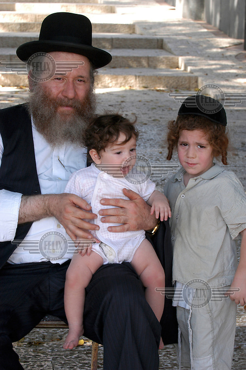 Jewish father and sons.