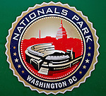 8 June 2008: Washington Nationals' Nationals Park logo is featured behind home plate prior to a game against the San Francisco Giants at Nationals Park in Washington, DC. The Nationals dropped the afternoon matchup to the Giants 6-3 in their third consecutive loss of the 4-game series...Mandatory Photo Credit: Ed Wolfstein Photo