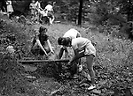 East McKeesport PA: Girl Scouts getting water before going out on a hike -  Camp Youghahela 1925