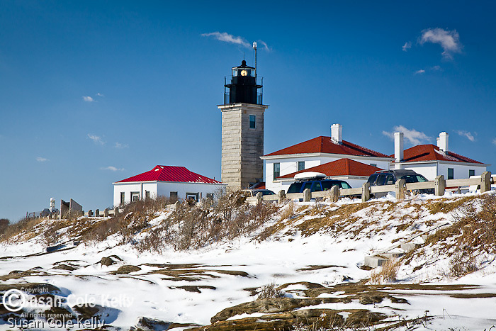 Winter at Beavertail Light, Beavertail State Park, Jamestown, RI, USA