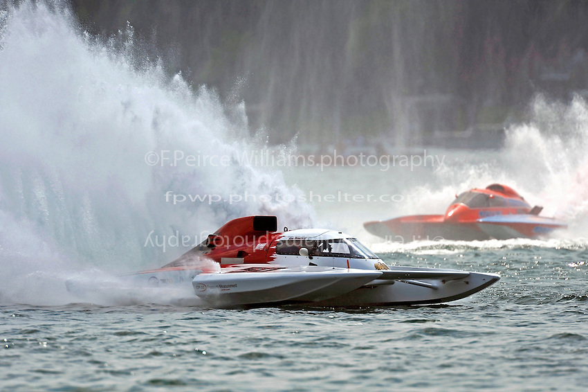 """Ken Brodie II, GP-50 """"Intensity""""  and Norman Shannon, GP-104 """"Pieces d'autos Valleyfield"""" (Grand Prix Hydroplane(s)"""