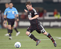 Stephen King #20 of D.C. United pushes forward during an MLS match against Real Salt Lake at RFK Stadium, on June 5 2010 in Washington DC. The game ended in a 0-0 tie.
