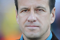 Brazil manager Dunga. Brazil defeated USA 3-0 during the FIFA Confederations Cup at Loftus Versfeld Stadium in Tshwane/Pretoria, South Africa on June 18, 2009.