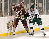 Pasha Kozhokin (Norwich - 2), Troy Starrett (Babson - 21) - The Norwich University Cadets defeated the Babson College Beavers 4-1 on Friday, January 13, 2011, at Fenway Park in Boston, Massachusetts.