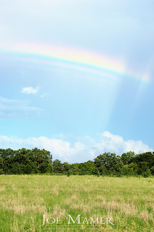 Rainbow over the Minnesota Valley National Wildlife Refuge near Jordan, Minnesota.