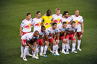 New York Red Bulls starting eleven. The New York Red Bulls  and the Vancouver Whitecaps played to a 1-1 tie during a Major League Soccer (MLS) match at Red Bull Arena in Harrison, NJ, on September 10, 2011.