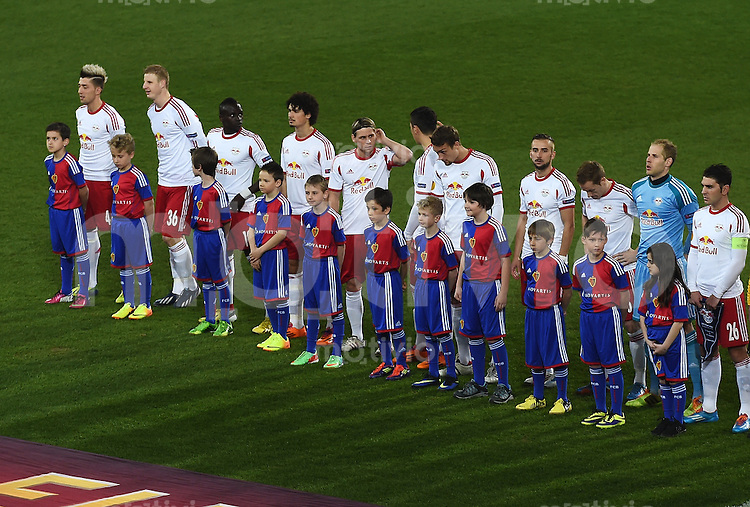FUSSBALL INTERNATIONAL UEFA EUROPA LEAGUE ACHTELFINALE HINSPIEL SAISON 2013/2014    FC Basel - Red Bull Salzburg     13.03.2014 Teambild Red Bull Salzburg
