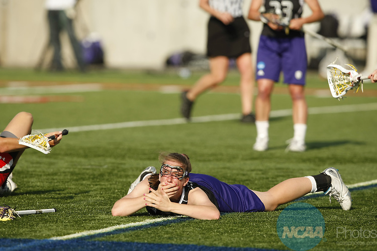 29 MAY 2011:   Northwestern University takes on the University of Maryland during the Division I Women's Lacrosse Championship held at Kenneth P. Lavalle Stadium on the Stony Brook University campus in Stony Brook, NY.  Jamie Schwaberow/NCAA Photos
