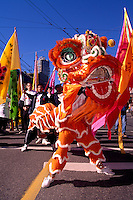 Chinese Dragon in the Chinese New Year's Parade in Chinatown, Vancouver, British Columbia, Canada