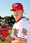 28 February 2010: Washington Nationals relief pitcher Drew Storen poses for his Spring Training photo at Space Coast Stadium in Viera, Florida. Mandatory Credit: Ed Wolfstein Photo