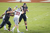 STANFORD, CA - October 8, 2016: Keller Chryst at Stanford Stadium. The Washington State Cougars defeated the Cardinal 42-16.