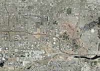 aerial photo map of Phoenix, Arizona