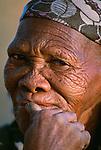 San bushman portrait, Kalahari Desert, Botswana