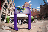 """NYU-Polytechnic School of Engineering's Research Expo in Brooklyn's """"Tech Triangle"""" in New York on Friday, April 24, 2015. Over forty research projects and their creators will exhibit and explain their research including cutting-edge robotics, engineering and biotechnology.  (© Richard B. Levine)"""