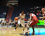 "Ole Miss'  Amber Singletary (20) as Arkansas' Quistelle Williams (24) at the C.M. ""Tad"" Smith Coliseum in Oxford, Miss. on Thursday, January 12, 2012. Mississippi won 60-54. (AP Photo/Oxford Eagle, Bruce Newman)"