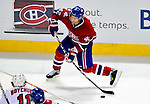 31 March 2010: Montreal Canadiens' center Dominic Moore in action against the Carolina Hurricanes at the Bell Centre in Montreal, Quebec, Canada. The Hurricanes defeated the Canadiens 2-1. Mandatory Credit: Ed Wolfstein Photo
