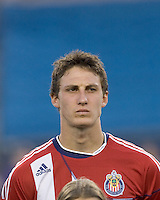 Chivas USA midfielder Ben Zemanski (21). Chivas USA defeated the New England Revolution, 4-0, at Gillette Stadium on May 5, 2010.