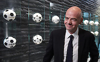 Fussball International 29.02.2016 FIFA Praesident Gianni Infantino (Schweiz) erster Tag im Home of Fifa FIFA Praesident Gianni Infantino (Schweiz) beim Interview
