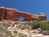 North Window, Window Arch, Arches Nat`l Park, Utah, USA