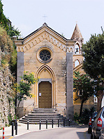 Church of Santa Caterina in Positano. Amalfi Coast, Campania, Italy, World Heritage Site.