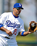 13 March 2007: Los Angeles Dodgers shortstop Rafael Furcal warms up prior to facing the Detroit Tigers in a spring training game at Holman Stadium in Vero Beach, Florida.<br /> <br /> Mandatory Photo Credit: Ed Wolfstein Photo