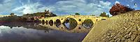 South France  ancient arched romanesque Bridge