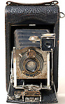 Old kodak folding bellows camera.