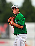 22 June 2009: Vermont Lake Monsters' pitcher Patrick Lehman warms up prior to facing the Tri-City ValleyCats at Historic Centennial Field in Burlington, Vermont. The Lake Monsters defeated the visiting ValleyCats 5-4 in extra innings. Mandatory Photo Credit: Ed Wolfstein Photo
