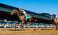 LEXINGTON, KENTUCKY - APRIL 08: Awesome Slew #9, ridden by Joel Rosario, wins the Commonwealth Stakes on Bluegrass Stakes Day at Keeneland Race Course on April 8, 2017 in Lexington, Kentucky. (Photo by Scott Serio/Eclipse Sportswire/Getty Images)