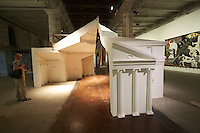 "13th Biennale of Architecture..Arsenale..San Rocco, Ines Weizman. ""FAT. Architectural Doppelgängers Research Cluster."