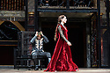 "London, UK. 22.06.2016.  Shakespeare's Globe presents ""Macbeth"", by William Shakespeare, directed by Iqbal Khan.  Picture shows:  Ray Fearon (Macbeth), Tara Fitzgerald (Lady Macbeth).  Photograph © Jane Hobson."