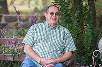 NWA Democrat-Gazette/ANTHONY REYES &bull; @NWATONYR<br /> James Crownover talks about his books Thursday, Sept. 24, 2015 at his home in Elm Springs. Crownover won two Spur awards for his first published western novel.