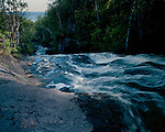 Onion River Falls and Lake Superior, Cook County, Minnesota, June, 1987