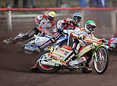 Heat 1 - Adams (green), Stead (blue), Chrzanowski (yellow) - Lakeside Hammers vs Swindon Robins - Sky Sports Elite League at Arena Essex, Purfleet - 17/08/07  - MANDATORY CREDIT: Gavin Ellis/TGSPHOTO - SELF-BILLING APPLIES WHERE APPROPRIATE. NO UNPAID USE. TEL: 0845 094 6026..