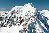 Mount Tasman, 3,497m second highest NZ mountain, Westland Tai Poutini National Park, West Coast, UNESCO World Heritage Area, New Zealand, NZ