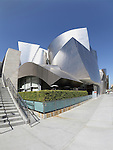 Los Angeles, California - March 2, 2012 - A fisheye view of the Walt Disney Concert Hall in Los Angeles, California on March 2nd, 2012.  The building was deisgned by Frank Gehry and opened on October 24th, 2003.