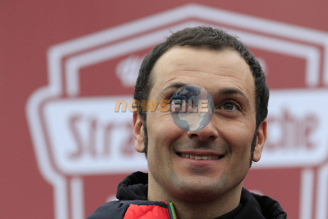 Former Champion Ivan Basso (ITA) at sign on before the start of the 2017 Strade Bianche running 175km from Siena to Siena, Tuscany, Italy 4th March 2017.<br /> Picture: Eoin Clarke | Newsfile<br /> <br /> <br /> All photos usage must carry mandatory copyright credit (&copy; Newsfile | Eoin Clarke)