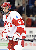 Wesley Myron (BU - 9) - The Boston University Terriers defeated the visiting Providence College Friars 4-2 (EN) on Saturday, December 13, 2012, at Agganis Arena in Boston, Massachusetts.
