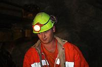 ITALIA Torino  Miniere di talco Val Chisone ITALIE Turin Mines de talc de la Val Chisone *** Local Caption *** Mineur ritratto di minatore Italy Turin talc mines