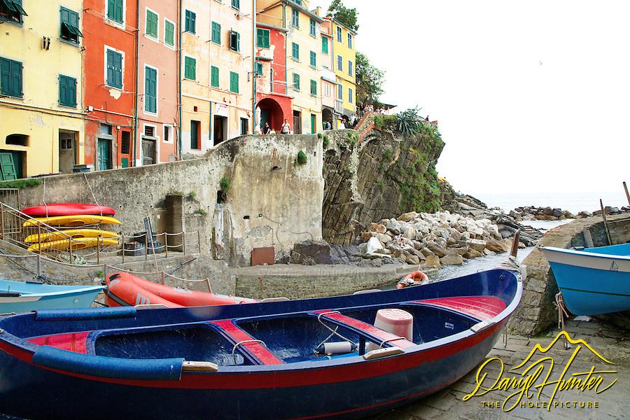 Boats, Riomaggiore, Cinque Terra, Italy