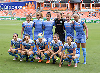 Houston, TX - Saturday April 15, 2017: Starting XI during a regular season National Women's Soccer League (NWSL) match won by the Houston Dash 2-0 over the Chicago Red Stars at BBVA Compass Stadium.