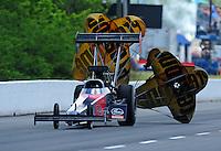 May 14, 2011; Commerce, GA, USA: NHRA top fuel dragster driver Ike Maier during qualifying for the Southern Nationals at Atlanta Dragway. Mandatory Credit: Mark J. Rebilas-