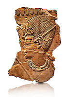 Ancient Egyptian tomb relief sculpture of King Amenhotep III with a blue crown from the grave of Chaemhat, Thebes West. 18th Dynasty 1360 BC. Neues Museum Berlin AM 14442.