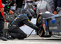 #10 Corvette DP of Ricky Taylor and Jordan Taylor, , pit stop, IMSA Tudor Series Race, Road America, Elkhart Lake, WI, August 2014.  (Photo by Brian Cleary/ www.bcpix.com )
