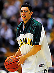 12 December 2010: University of Vermont Catamount guard Josh Elbaum, a Freshman from Wheatley, NY, warms up prior to game action against the Marist College Red Foxes at Patrick Gymnasium in Burlington, Vermont. The Catamounts (7-2) defeated the Red Foxes  75-67 notching their 7th win of the season, and their best start since the '63-'64 season. Mandatory Credit: Ed Wolfstein Photo