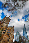 The Shard and Southwark Cathedral, London UK