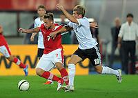 Fussball International  WM Qualifikation 2014   11.09.2012 Oesterreich - Deutschland Marko Arnautovic (li, Oesterreich) gegen Toni Kroos (Deutschland)