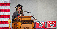 Student Amber Leal speaks at Western Commencement 2014