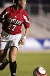 Maryland's Danielle Malagari on Wednesday, November 2nd, 2005 at SAS Stadium in Cary, North Carolina. The University of North Carolina Tarheels defeated the University of Maryland Terrapins 3-1 during their Atlantic Coast Conference Tournament Quarterfinal game.